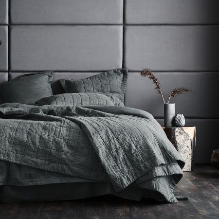 Sheridan Abbotson Linen Bed Cover smoke