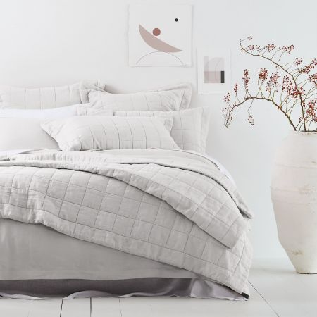 Sheridan Abbotson Linen Bed Cover White