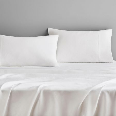 Sheridan Abbotson Linen Fitted Sheet White