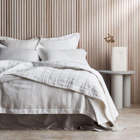 Sheridan Abbotson Linen Bed Cover White