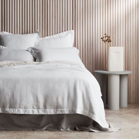 Sheridan Abbotson Linen Quilt Cover White