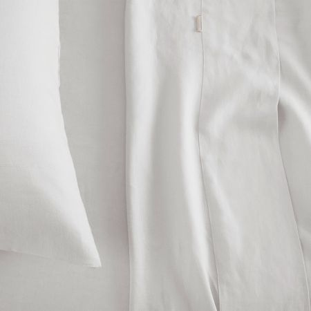 Sheridan Abbotson Linen Fitted Sheet White