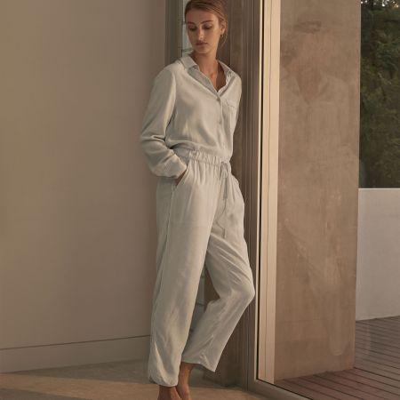 Sheridan Coralie Womens Sleep Pants Ice Blue