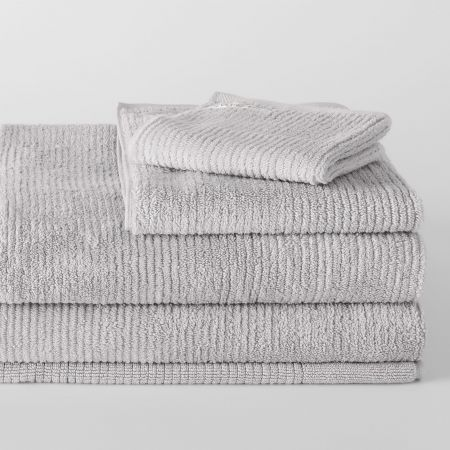 Sheridan Living Textures Towel Collection Silver Grey
