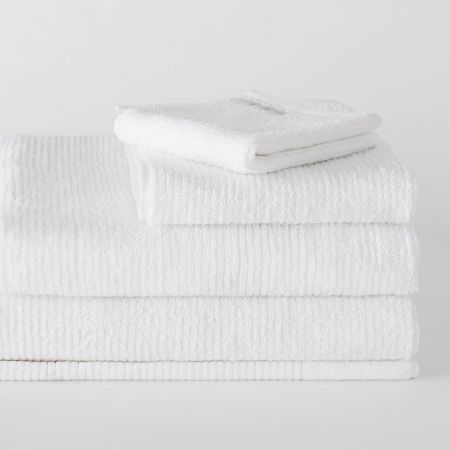 living textures towel collection white