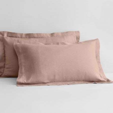 Abbotson Linen Tailored Pillowcase Pair in Clay