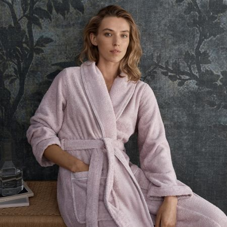 Luxury Egyptian Cotton Robe in dusty lilac