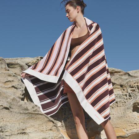 Aquatico Beach Towel in Aubergine