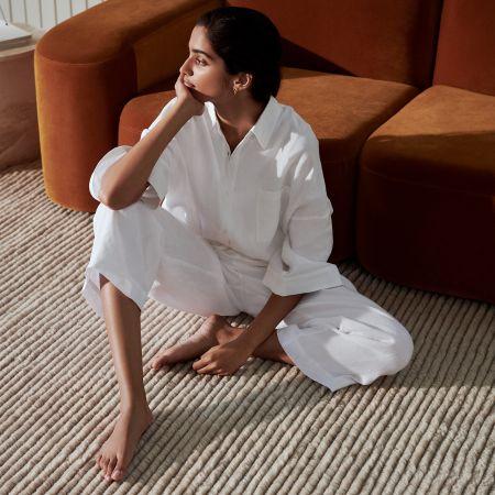 Abbotson Linen Womens Slim Pants in white