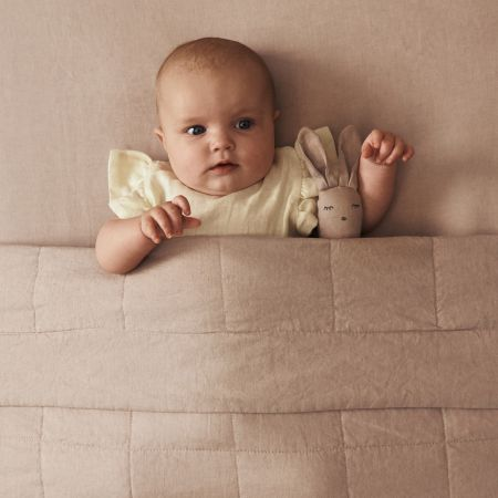 Abbotson Linen Baby Fitted Sheet in Clay