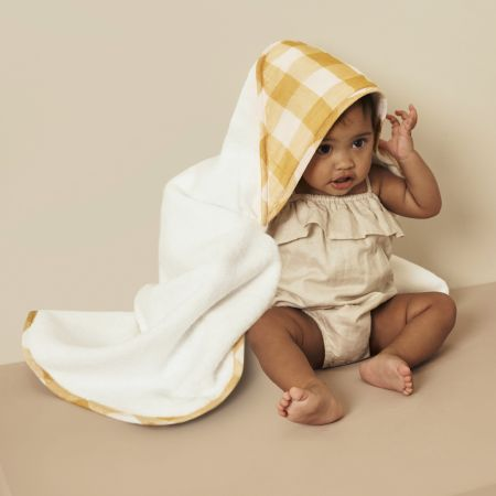 Albie Hooded Baby Towel in Mango
