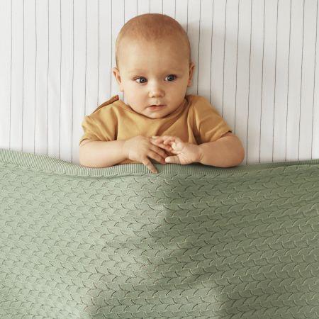 Dalila Baby Blanket in Spearmint
