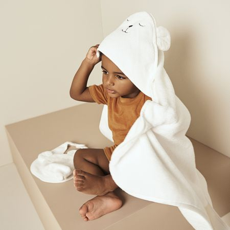 Baby First Towel Set in White