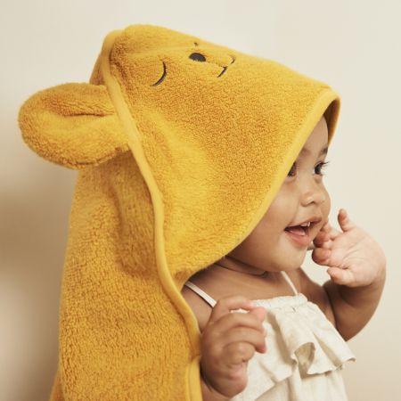 Harland Baby Hooded Towel in Mango