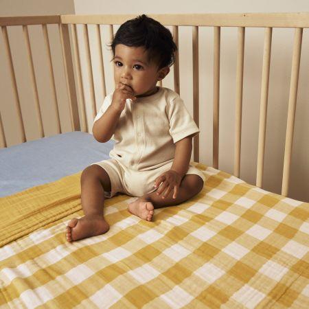 Keelan Baby Blanket in Mango