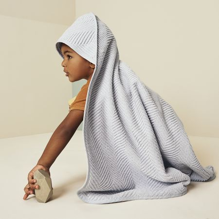 Rayner Baby Hooded Towel in Silver