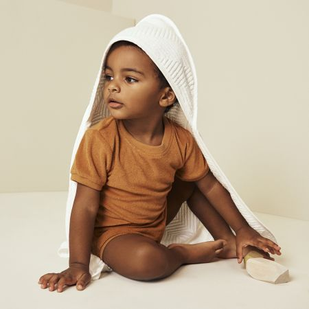 Rayner Baby Hooded Towel in White