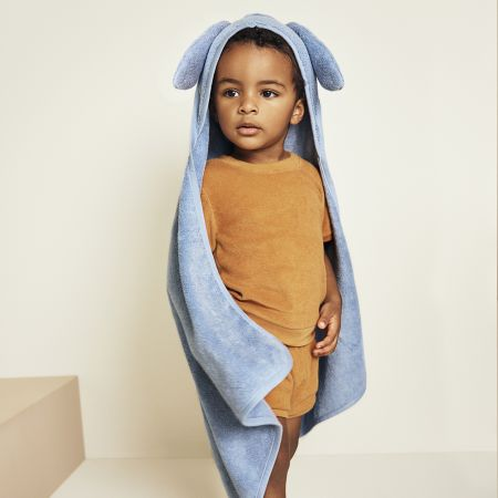 Supersoft Luxury Hooded Baby Towel in Chambray
