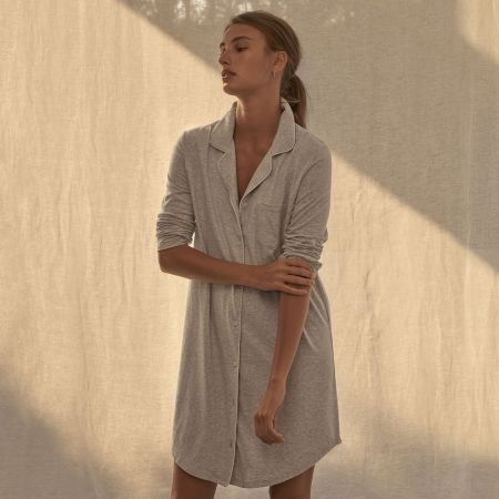 Sheridan Trinitie Womes Nightie Grey Marl