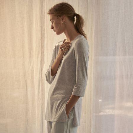 Sheridan Zaria Womens 3/4 Sleeve Tee Grey Marl