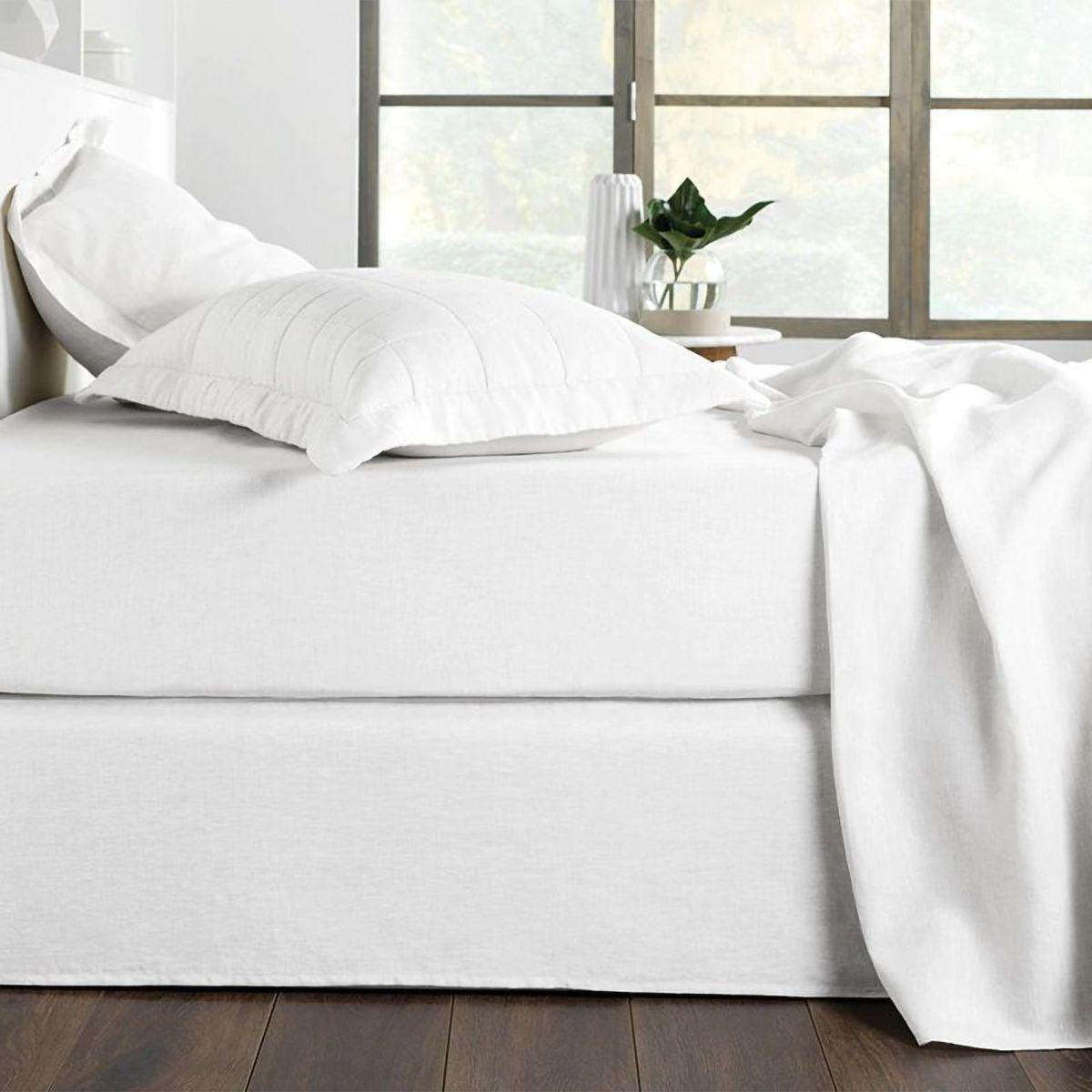 Abbotson Bed Skirt White Sheridan Australia