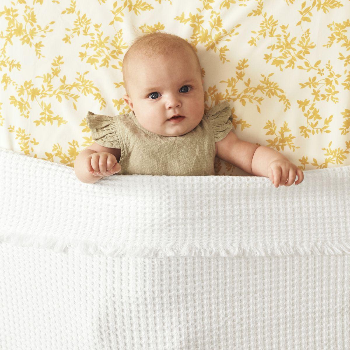 Organic Cotton Waffle Baby Blanket