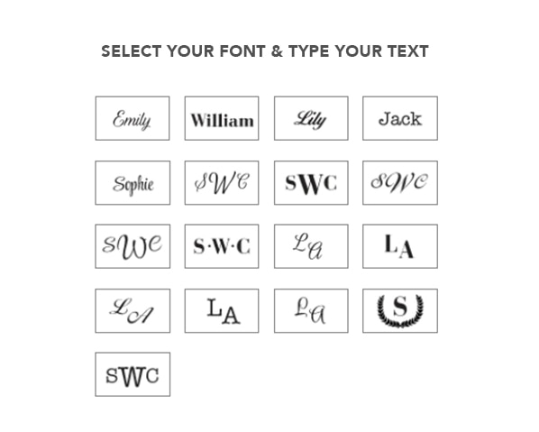 Select your font & type your text